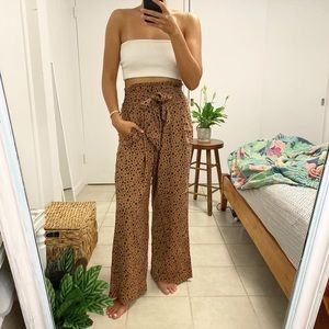 Abercrombie and Fitch smocked waist animal pants